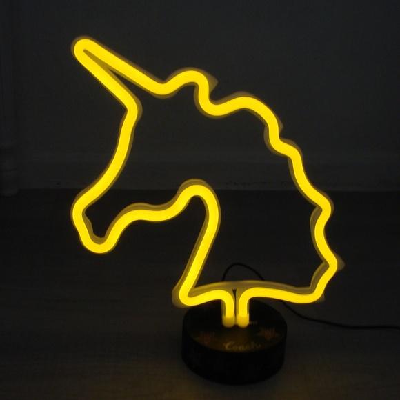 NIB COACH NEON UNICORN LIGHT LAMP USB OR BATTERIES